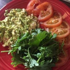 Chicken & Guacamole mash salad