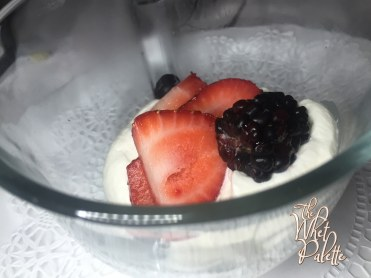 Fresh Berries and Coconut Rum Chantilly Cream