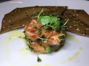 SALMON TARTARE micro-basil, serrano chili, shallot, cilantro