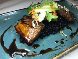 Braised Pork Belly and a delightful Forbidden Rice