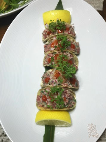 Steak Tartare Tacos