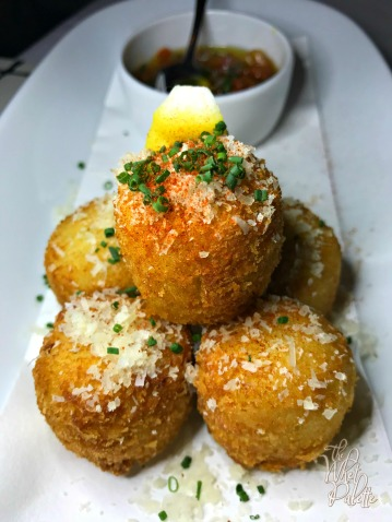 Salt Cod Croquettes: these were probably one of the few dinner highlights